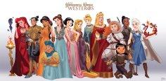 http://djedjehuti.deviantart.com/art/Disney-Princesses-as-Game-of-Thrones-435049052