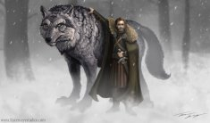 http://ravenseyetravislacey.deviantart.com/art/Robb-Stark-and-Grey-Wind-Game-of-thrones-318827651