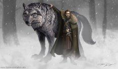 http://ravenseyetravislacey.deviantart.com/art/Robb-Stark-and-Grey-Wind-Game-of-thrones-318827651