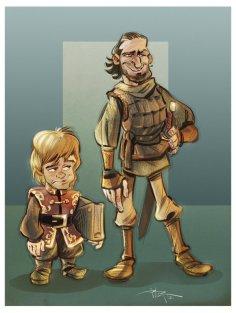 http://3nrique.deviantart.com/art/Tyrion-and-Bronn-309889202